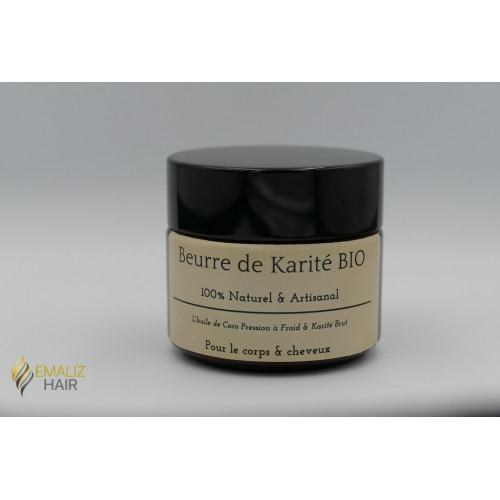 BEURRE DE KARITE BRUTE - QUALITE PREMIUM EMALIZ HAIR