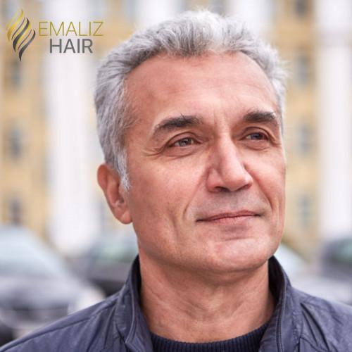 """Complément capillaire homme """"Olivier"""" 0.08mm"""