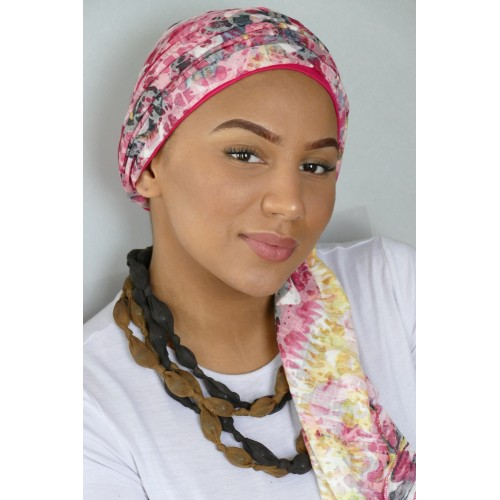 FOULARD ET BONNET CHIMIOTHERAPIE LA SOLUTION PELADE - TOSCANE EMALIZ HAIR