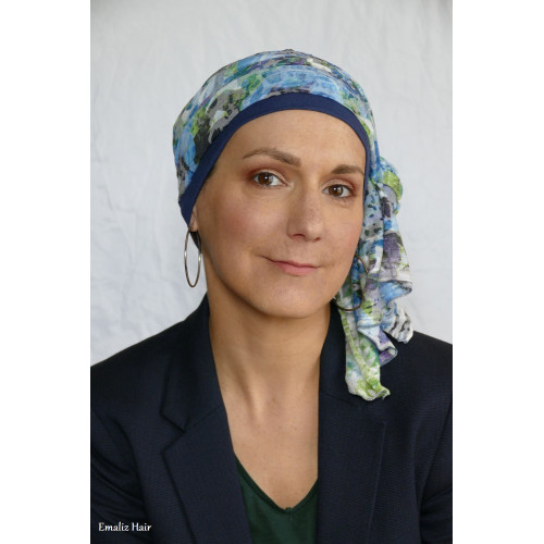 FOULARD ET BONNET POUR FEMME POST CHIMIO - BY EMALIZ HAIR